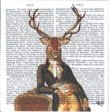 4 Single paper decoupage napkins. Lord Winston, Deer, letters, hunting - 909