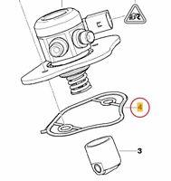 Original BMW Hochdruckpumpe  Profildichtung  11127555739  13517562473