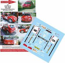 DÉCALS 1/24 réf 306 SAXO Kit Car Loeb - Elena Diois 2000 Champion de France