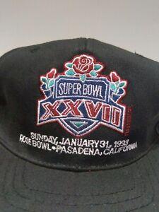 Vintage 90s New Era Pro Model 1993 Super Bowl XXVII Rose Bowl Snapback Hat Cap
