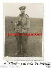 REGIA AERONAUTICA MILITARE ISTRUTTORE DI VOLO DE MICHIEL WW2 FOTO D'EPOCA