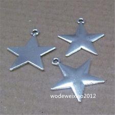 15pc Retro Tibetan Silver Pentagram Pendant Charms Beads Accessories JP703