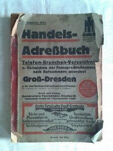 Handels-Adressbuch Telefon-Branchen-Verzeichnis Groß - Dresden 27. Ausgabe 1935