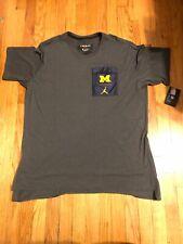 NWT Mens Nike Jordan Michigan Wolverines Team Issued Shirt Size Large $60
