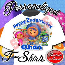 NEW CUSTOM PERSONALIZED Team Umizoomi BIRTHDAY T SHIRT PARTY FAVOR ADD NAME