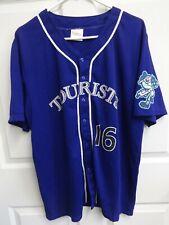 2016 MiLB Asheville Tourists SGA Button Front Baseball Jersey Men Large Purple
