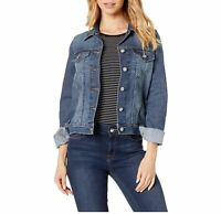 Signature By Levi Strauss & Co. Gold Label Womens Blue Bae Trucker Jean Jacket