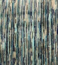 ROMO JACQUARD VELVET UPHOLSTERY FABRIC CANTUS MOROCCAN BLUE BY THE YARD