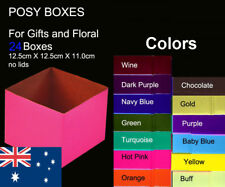 24X Posy Cardborad Gift and Flower Boxes 12.5X12.5X11cm