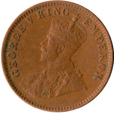 COIN / INDIA / QUARTER ANNA KING GEORGE V. 1913  #WT3828