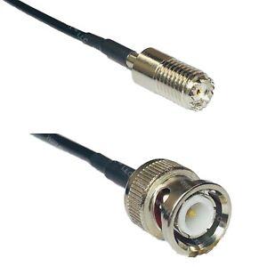 RFC100 MINI UHF FEMALE to BNC MALE Coax RF Cable USA-Ship Lot