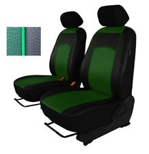Green Eco-Leather Universal Front Seat Covers for NISSAN NAVARA D-40 2004 - 2015