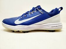 Nike Lunalar Mens Leather Golf Shoes W/Flywire Technology  Blue/White  Size 7