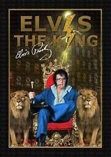 More details for elvis presley - the king - signed original a4 photo print memorabi