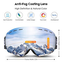 PRO - Frameless Snow Goggles, Dual Lens with Anti Fog & 100% UV400 Protection