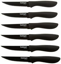Kitchen Cutlery Knife Set Cuisinart 6-Pc Ceramic Coated Steak Knife Set Black