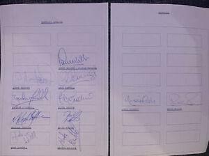 Multi Signed X11 Team Sheet Barnsley FC 1994 Football Autograph Danny Wilson +