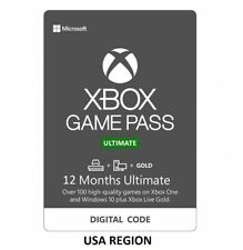 12 Months Xbox Game Pass Ultimate + Live Gold + Game Pass