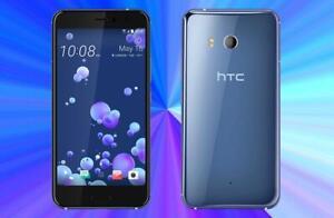 HTC U11,(Amazing Silver) Blue, 64GB ROM, 4GB RAM, Factory unlocked new phone.