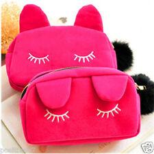 Rosy Cosmetic Make-Up Bag Case Organizer Zipper Holder Travel Toiletry Handbag