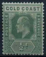 Gold Coast 1907-13 SG#59, 1/2d Green KEVII MH #D17242