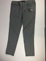 NWT Tripp NYC Pants Size 15 Punk Black White Plaid Houndstooth New