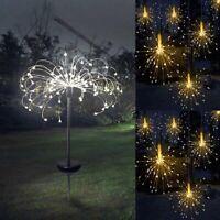 Solar/Battery Fireworks LED Fairy String Lights Starburst Xmas Garden Lawn Lamps