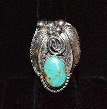 Ring Royston Turquoise Native American Sterling Silver Navajo R Martinez Sz 8