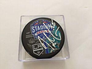 Tye McGinn Signed 2015 Stadium Series SJ San Jose Sharks Hockey Autographed a