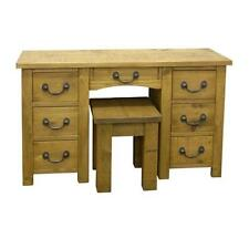 REAL SOLID WOOD COMPUTER DESK DRESSING TABLE STOOL RUSTIC PLANK PINE FURNITURE