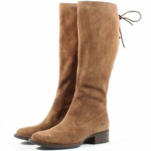 Born Cotto Suede Tall Riding Boot Light Brown Size 9.5 Brand new