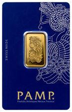 PAMP Suisse 10 Gram .9999 Gold Bar - Fortuna With Assay Certificate SKU29097