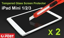 2 X Resist Tempered Glass Screen Protector LCD Film for Apple iPad mini 1/2/3
