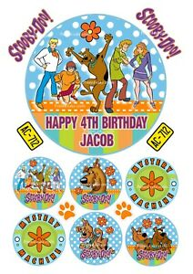 EDIBLE *PRECUT* ICING SCOOBY DOO THEMED CAKE TOPPERS PEEL & ATTACH NO CUTTING