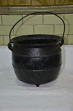 "Antique 3-legged Cast Iron Gypsy Pot/Kettle 9.5"" Wide x 7"" Tall ALBERT MFG CO."