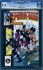 Spectacular Spider-Man 129 CGC 9.8, 1987 Black Cat, Highest, Parker, Amazing