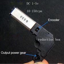 5pcs DC 1v-5v 3V Small Worm Gear Motor Mini Gearmotor Reduce Gear Box Code Wheel