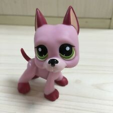 Rare gift  pink and deep pink GREAT DANE Dog  LPS #2583 LITTLEST PET SHOP