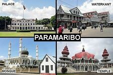 SOUVENIR FRIDGE MAGNET of PARAMARIBO PARBO SURINAME