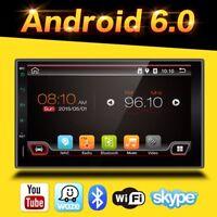 AUTORADIO MIT ANDROID 6.0.1 NAVIGATION DAB+ OBD2 WIFI 3G BILDSCHIRM 2 DIN DOPPEL