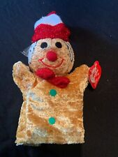 "PUPPET Gingerbread Man 8"" Plush Toy Doll Christmas cousins J4"