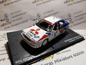 Mitsubishi Galant VR-4 - 1989 - Rac Rally - boite pléxi 1:43 eme ( neuf )