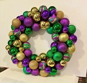 Mardi Gras Decorative Ornament  Wreath