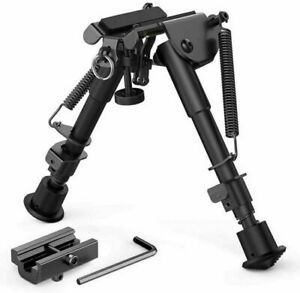 "Adjustable 6~9"" Air Rifle Bipod QD Tactical Picatinny Rail Flat Spring Hunting"