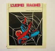 VECCHIO ADESIVO ORIGINALE / Old Sticker Vintage UOMO RAGNO SPIDERMAN (cm 10x13)