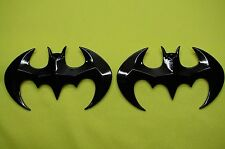 BATMAN  3D ABS BLACK EMBLEM STICKER LOGO BADGE DECAL FOR CARS& BIKES (SET OF 2)
