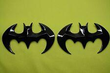 BATMAN  3D ABS BLACK EMBLEM STICKER LOGO BADGE DECAL FOR CARS& BIKES (SET OF 2)