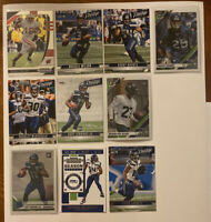Seattle Seahawks Football Card Lot Russell Wilson Prizm Draft Travis Homer RC