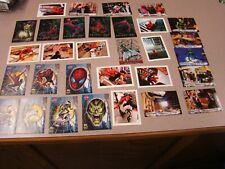 2002 Topps Spider-Man Marvel Comics Web Tech Foil Card Set F1-F5 AND EXTRA CARDS