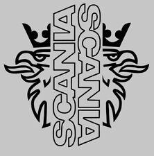 Scania fenêtre stickers autocollants logo X2 topline série r vabis super V8 contour